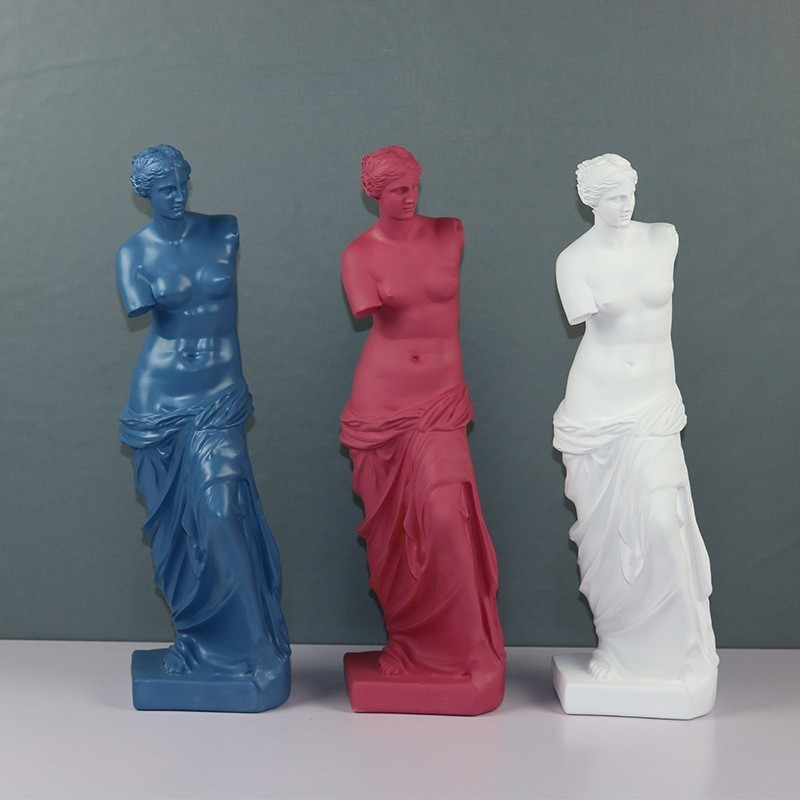 Venus De Milo Large Resin Statue Aphrodite Goddess Statue Masterpiece Replica Crafts Modern Sculpture Table Home Decor Ornaments