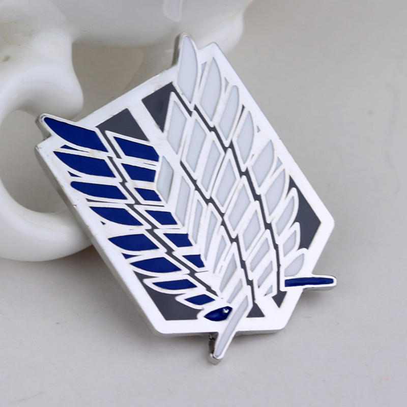 Anime Series Attack On Titan Large Brooches Fashion Brooches Pin Badge Exquisite Jewelry Down Collar Tips Brooch Lapel Pin Men