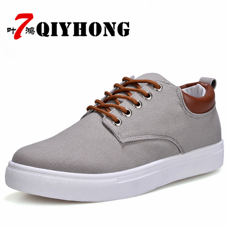 New Arrival Spring Summer Comfortable Casual Shoes Mens Canvas Shoes For Men Lace-Up Brand Fashion Flat Loafers shoes men brand new spring casual boys canvas low top shoes slip on mens lightweight canvas shoes for young men fashion flat shoes ac 07