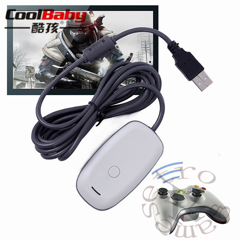 USB PC wireless gaming receiver for xbox 360 controller gamepad adapter accessories Windows 7/8