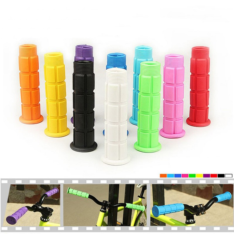 Bicycle Handlebar Grips MTB Mountain Bike Soft Rubber Lock On Cycling Accessory