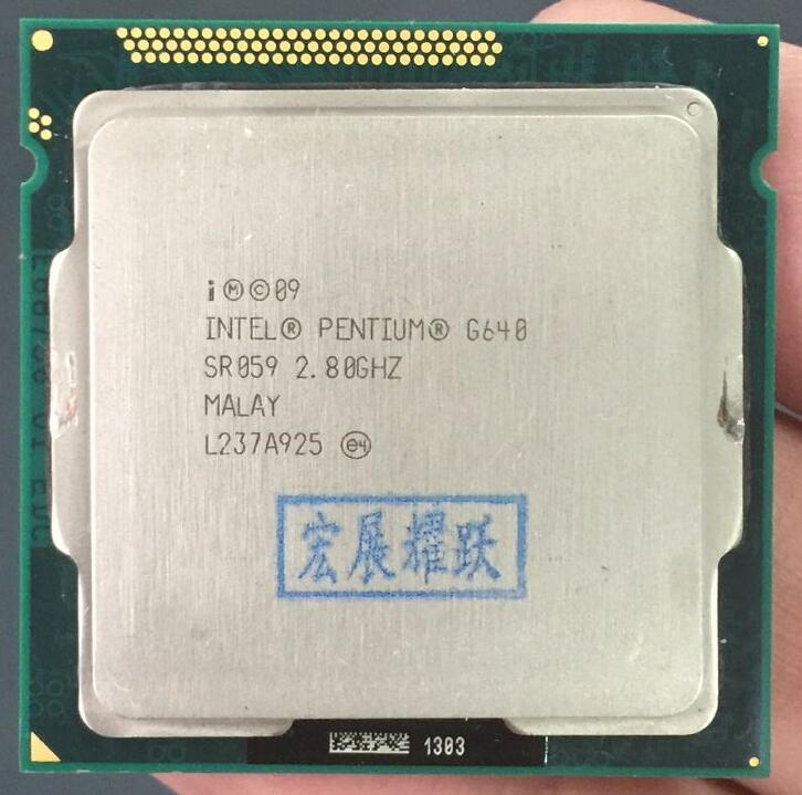Shipping Free Intel CPU Pentium G640 3M Cache, 2.80 GHz LGA 1155 TDP 65W PC Computer Desktop CPU