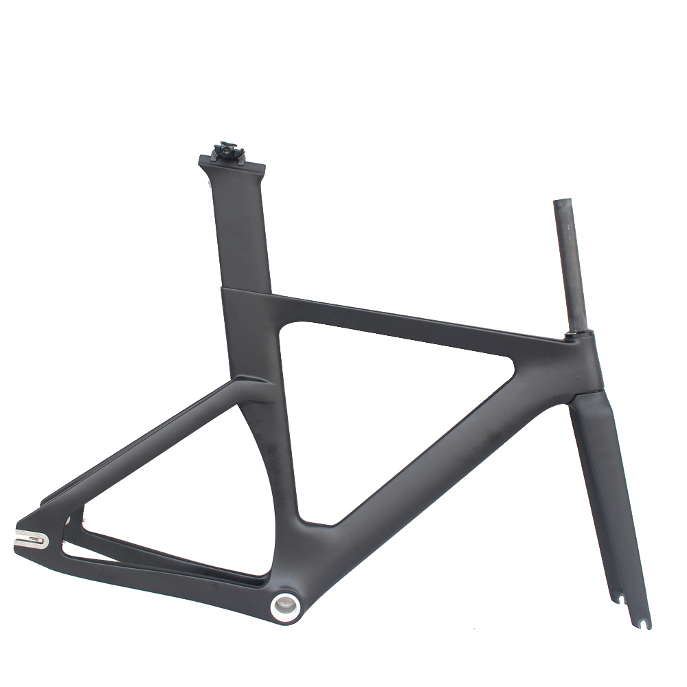 Aero Track Bike Carbon Frame New Carbon Track Frame UD Weave 700c Track Bike Frame Size 49/51/54cm Fixed Carbon Bicycle Frame