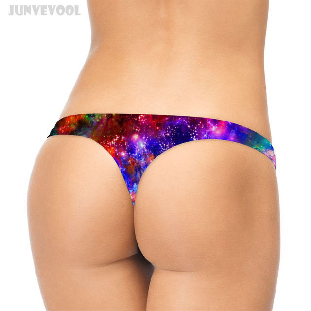 1390c113a35 Micro G Strings Underpant Women Plus Size Underwear Briefs Galaxy Stars  Sexy Lingerie Thong G-String Knickers T-Back Women's