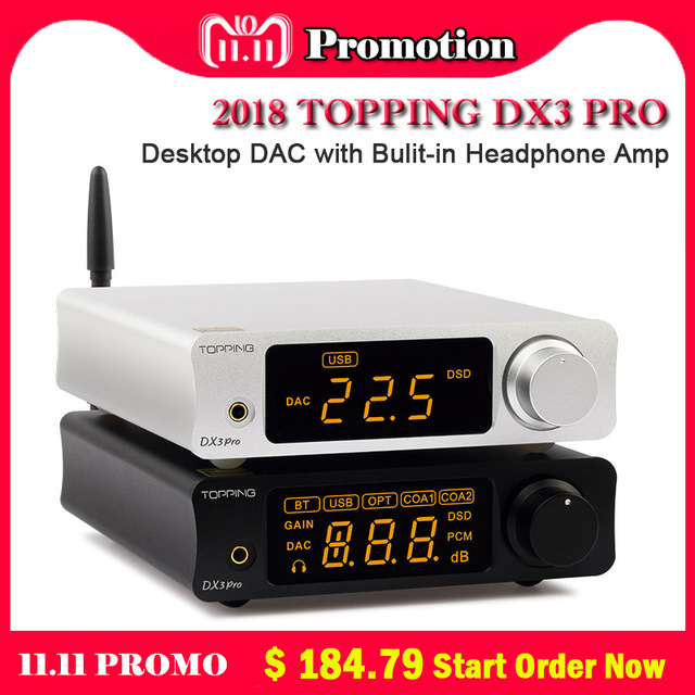 TOPPING DX3Pro DAC AMP xmos xu208 AK4493EQ+OPA1612 decoding dsd 512 support Bluetooth ATPX coaxial/optical/usb Headphone Amp hot sale headphone amp machineoptical fiber coaxial usb dac decoding machine lehmann amp