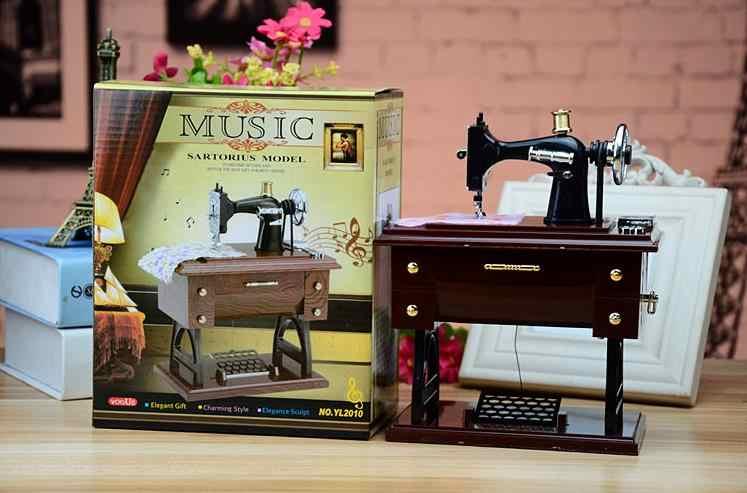 Швейная машина музыкальная шкатулка горячая Распродажа креативный подарок на день рождения для студента подруги ребенка винтажные аксессуары для украшения дома