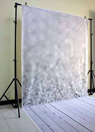 gray bokeh studio photo background backdrop vinyl printed with white ground for newborn D-9732