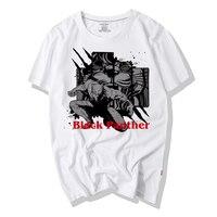 Waidx Hot Black Panther T-shirt Men Hot Movie Popular Comics Character 3D Print Cotton Top Tees Suit Homme Drop Shipping