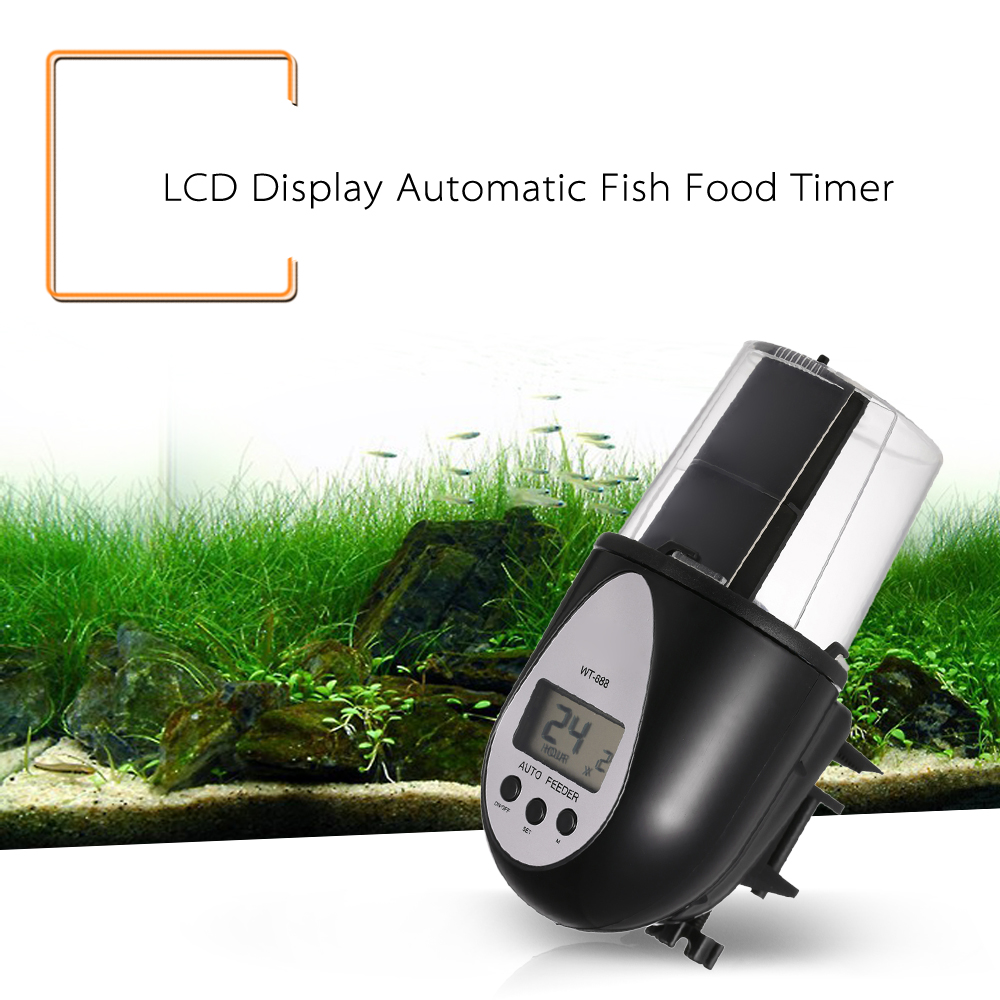Aquarium fish tank auto food feeder lcd timer - New Lcd Display Electric Fish Food Timer Automatic Fish Feeder Pet Feeding Dispenser For Home Aquarium