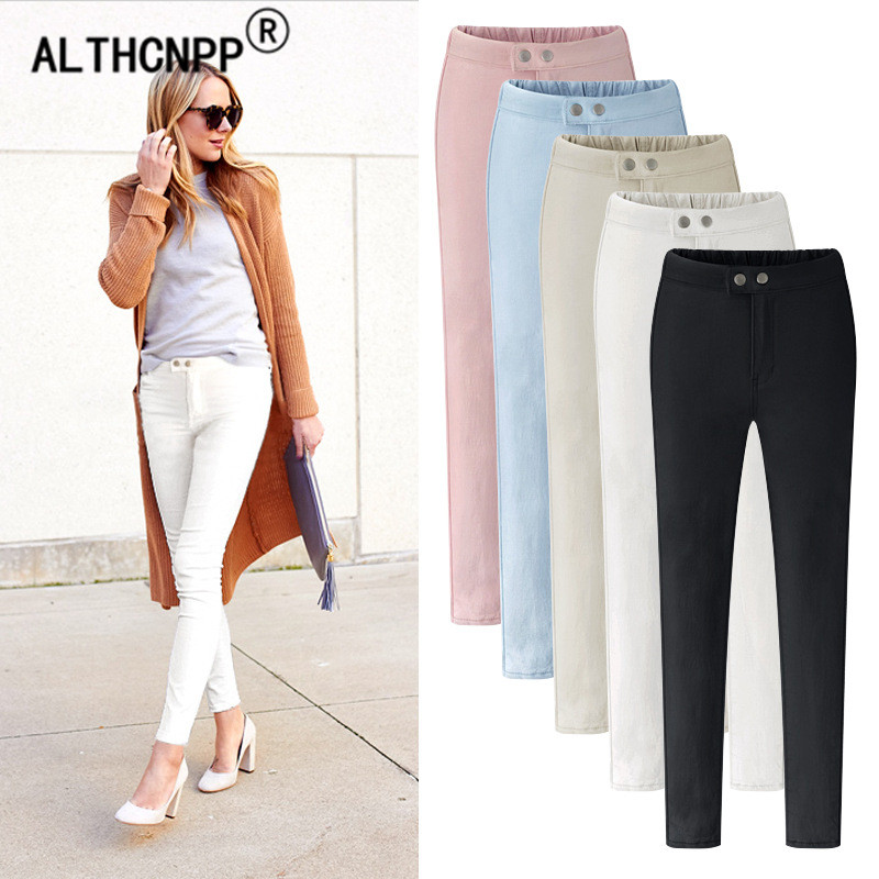 Women   Pants   Plus Size Thin Elasticity Skinny Pencil   Pants   Black Trousers Women High Waist   Pants     Capris   For Women Pantalon Femme
