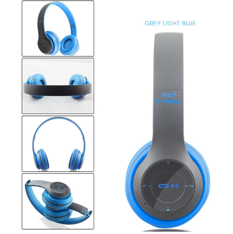 P47 Bluetooth Headphone Wireless Headset Earphone HandsFree Music Headset for iphone 5 6 7 Samsung Xiaomi Huawei VS P47 P45 P15 original r6000 wireless headphone bluetooth headset for samsung xiaomi iphone 7 car charger 2 in 1 bluetooth earphone