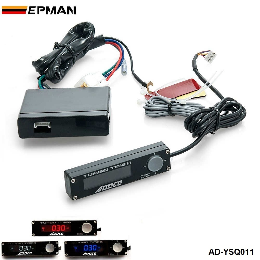 12V Blue/Red/White LED Display Auto Vehicle Car Meter Turbo Timer ...