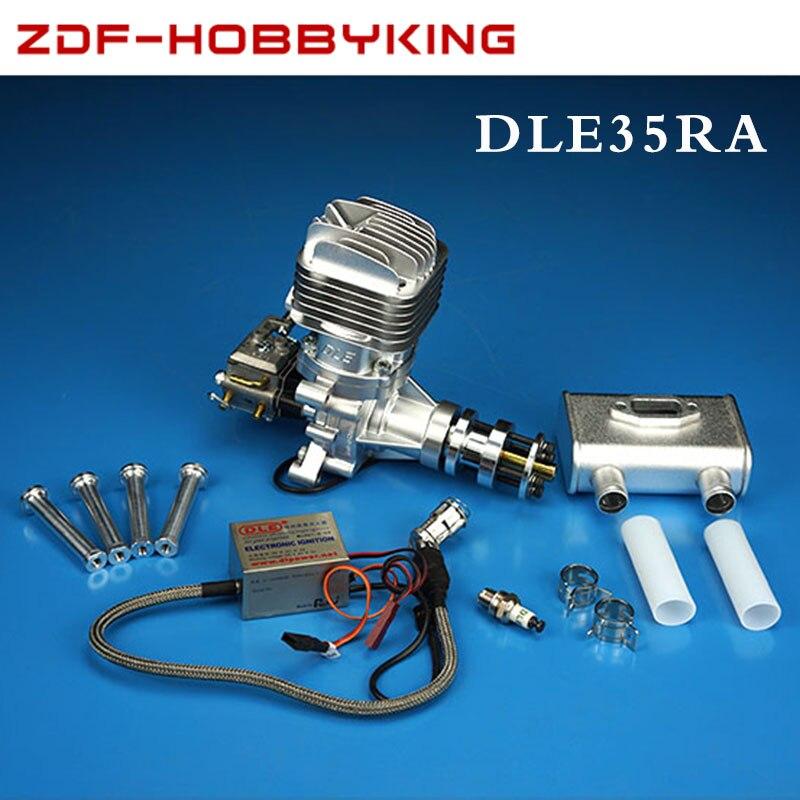 DLE Original nuevo DLE35RA 35cc motor de gasolina/gasolina para Avión RC