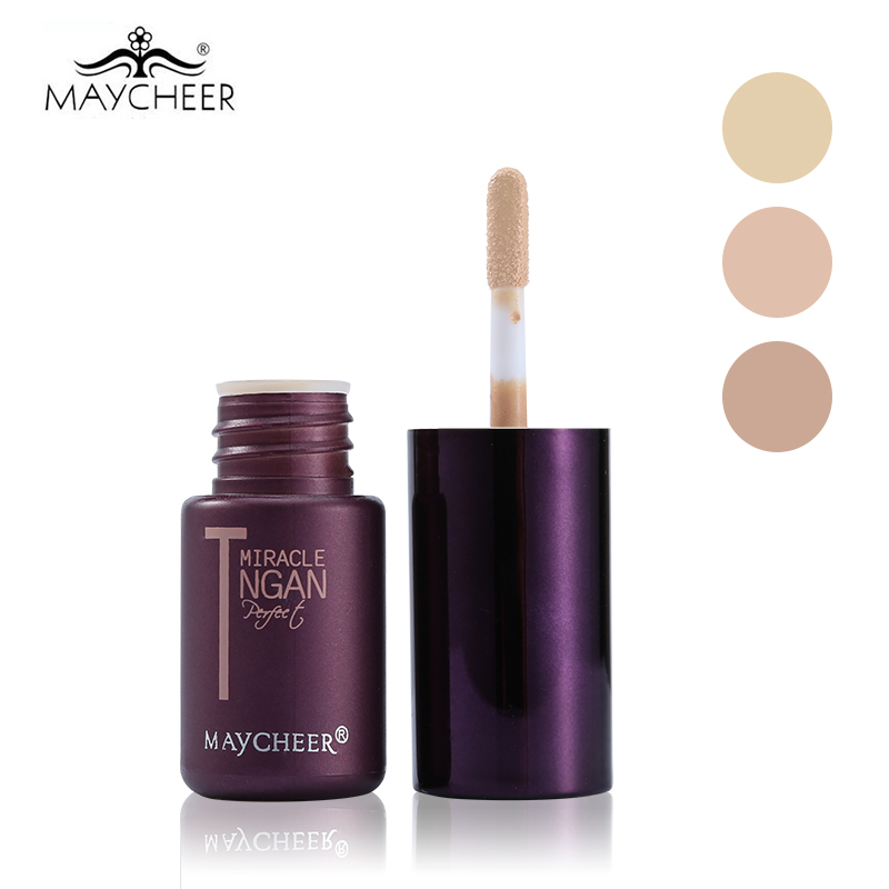 MAYCHEER 3 ColorsT zone Concealer Cream Concealing Dark Circles font b Makeup b font Face Flawless
