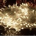10 M 100 led RGB LED Cadena Luz de Tira de La Lámpara 110 V 220 V Al Aire Libre LLEVÓ la Iluminación del día de Fiesta de Navidad de La Boda Deco Jardín Luz de Halloween