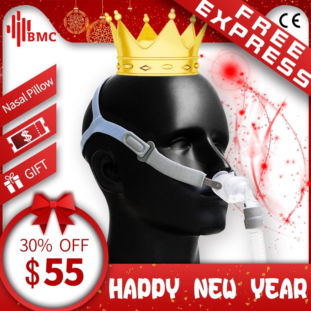 BMC P2 Nasale Oreillers Masque Lumière masque de sommeil pour CPAP Médicale Machines Acheter Un en Obtenir S/M/L Trois taille Coussins