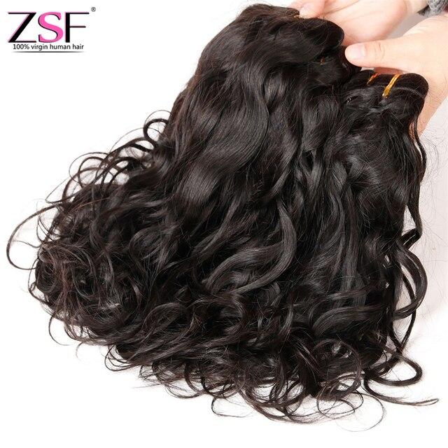 8a Grade ZSF Hair Brazilian Hair Weave Bundles 4 Bundles Natural Wave Virgin Hair Water Wave Wet And Wavy Human Hair Extensions