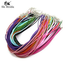 """20pcs/lot 18""""*3mm Mix Color Suede Cord Necklace Materials To Make Necklaces Colares Cuerda Accessories Diy Jewelry Fittings NC-5"""