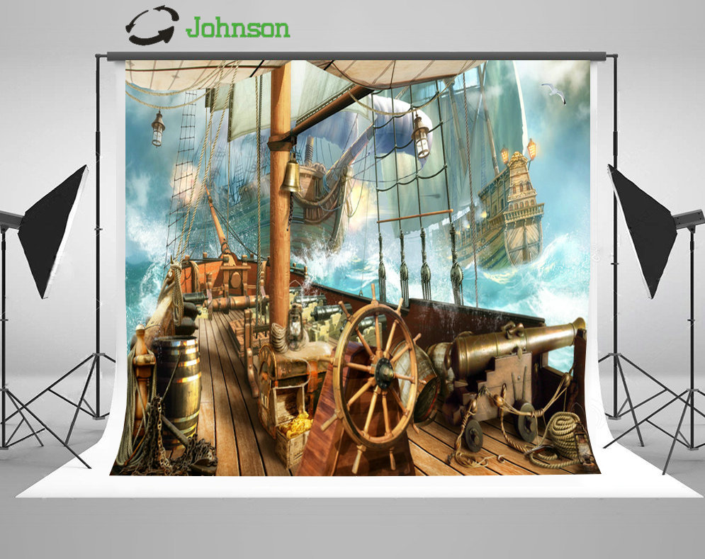 Aliexpress.com : Buy Pirate Ship Nautical Party photo ...