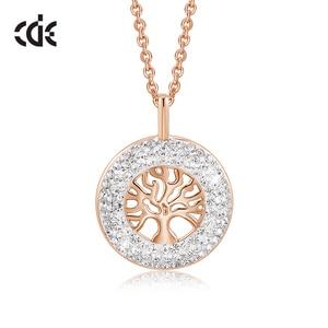 Image 1 - CDE Fashion Luxury Women Necklace Pendant crystals from Swarovski Tree of Life Jewelry Sweet Romance Christmas Gift