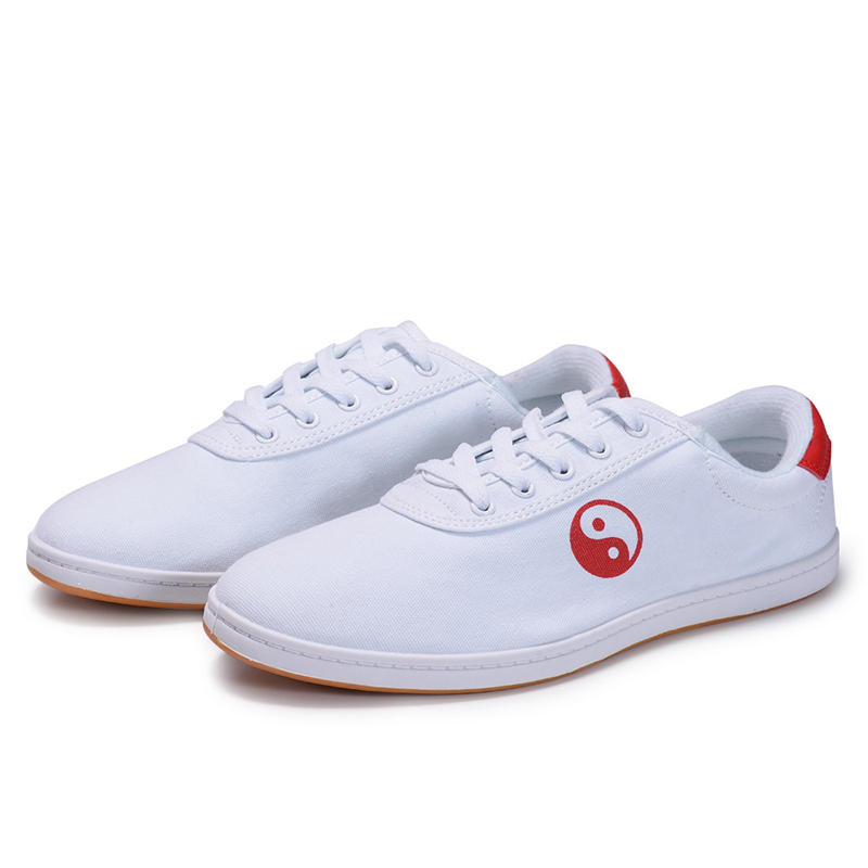 White Chinese Yin Yang Practice Shoes 5