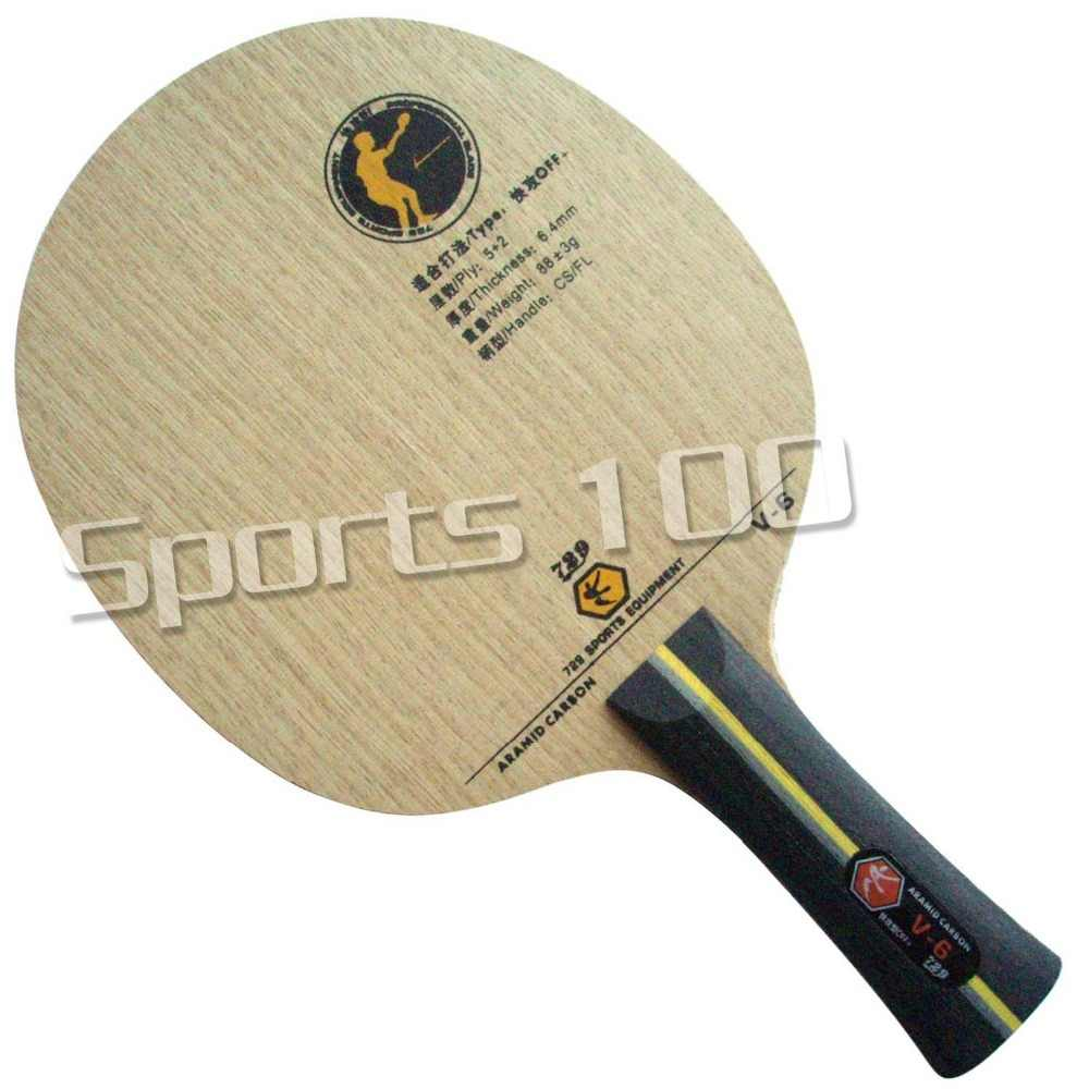 RITC 729 V6 Friendship V-6 V 6 Aryl Carbon OFF+ Table Tennis carbon Blade for PingPong Racket