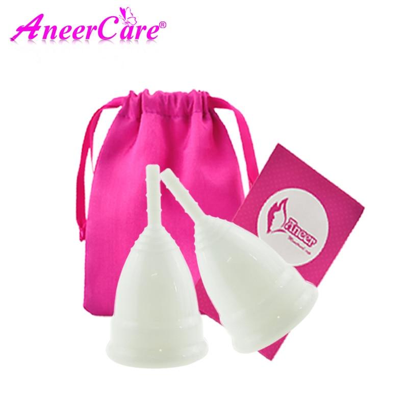 2pcs Menstrual cup for women Feminine hygiene vaginal period cup  copa menstrual de silicona medica reusable coletor menstrual