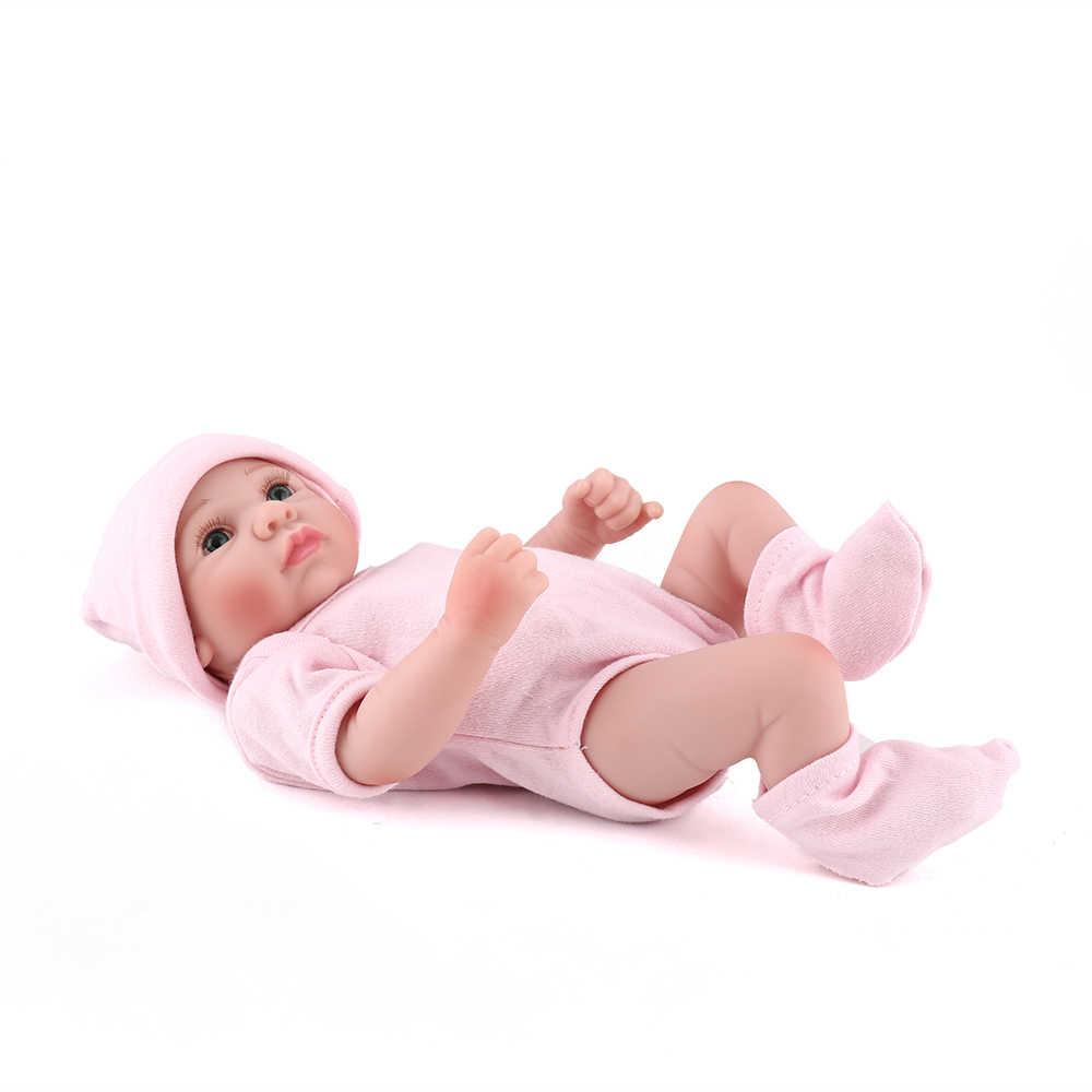 10 polegadas Full Vinil Realista Boneca Reborn Mini Bonito Bonecas Menina Brinquedo Para Crianças Bebê Recém-nascido Presente Para As Crianças lol bebe Kaydora
