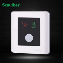 led indicator 1 gang do not disturb clear at once door reset bell glass touch wall switch