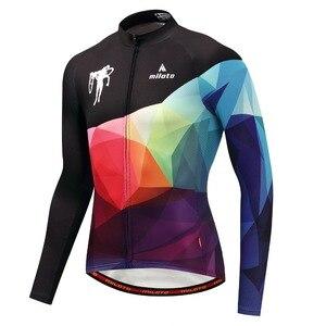Image 2 - Мужская трикотажная рубашка MILOTO, зимняя велосипедная рубашка с длинным рукавом и длинным рукавом для езды на велосипеде, Майо, зима 2019