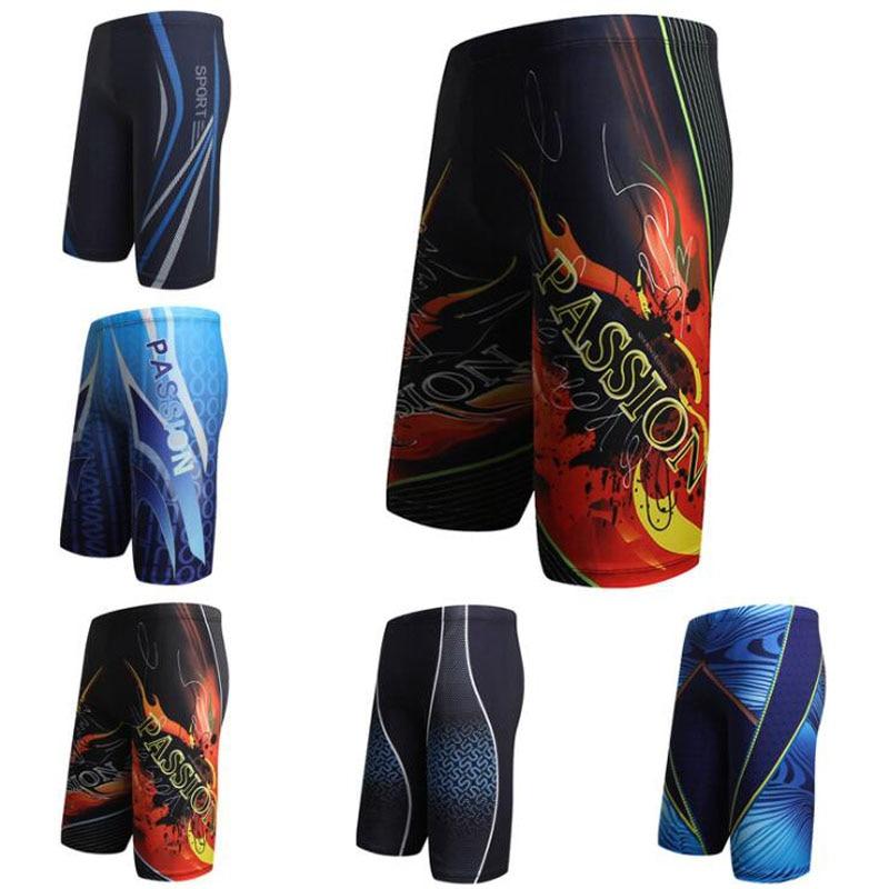 Hombres Swim Shorts piscina Trunks Briefs impresiones múltiples boxeador playa largo traje de baño desgaste L XL XXL XXXL