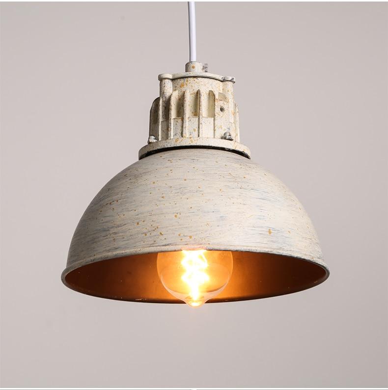 IWHD American Retro Vintage Pendant Lights Fixtures Edison Loft Industrial Pendant Lighting Hanglamp Lampen Wrount Iron