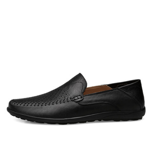 Image 3 - Summer Men Shoes Casual Luxury Brand 2019 Genuine Leather Mens Loafers Moccasins Italian Breathable Slip on Boat Shoes JKPUDUN