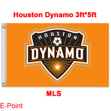 1 piece 144cm*96cm size MLS Houston Dynamo Flying flag