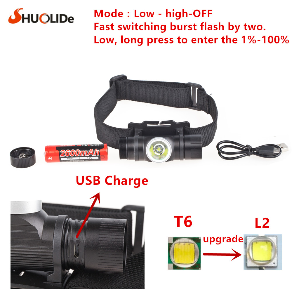 NEW CREE XML2 T6 USB Rechargeable headlamp Headlights headlight 18650 head lamp for camping led flashlight litwod z302309 usb 9 cree led led headlamp headlight head flashlight torch cree xm l t6 head lamp rechargeable for 18650 battery