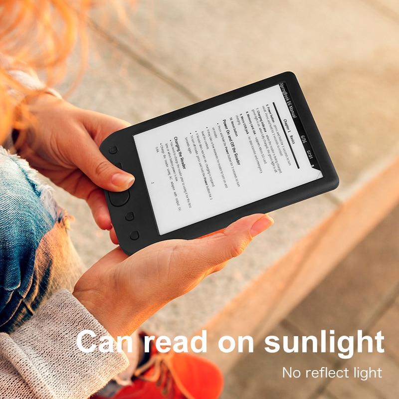 8 GBTF carte + 8 GB E-BOOK Reader e-ink 6 pouces E-reader 800x600 résolution affichage 300 DPI avec e-reader cover