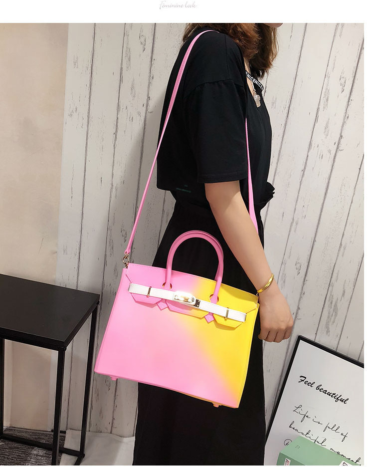 Cotton Candy Rainbow Birkin Bag High Quality Colorful Handbags + Free Women Scarf (Gift) Bag High Quality Colorful Handbags