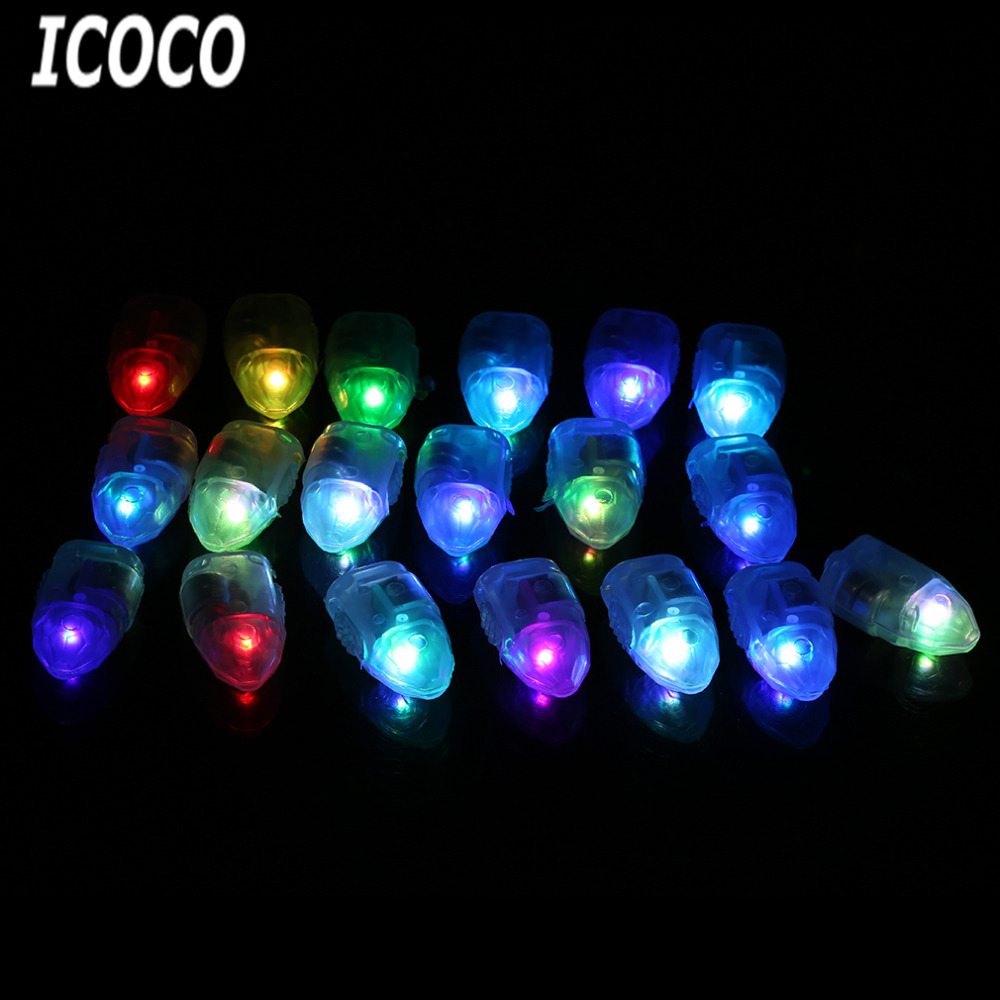 Decorative lights for weddings - Icoco Free Shipping 50 Pcs Lot Led Balloon Bulb Lights White Rgb Color Changing Light