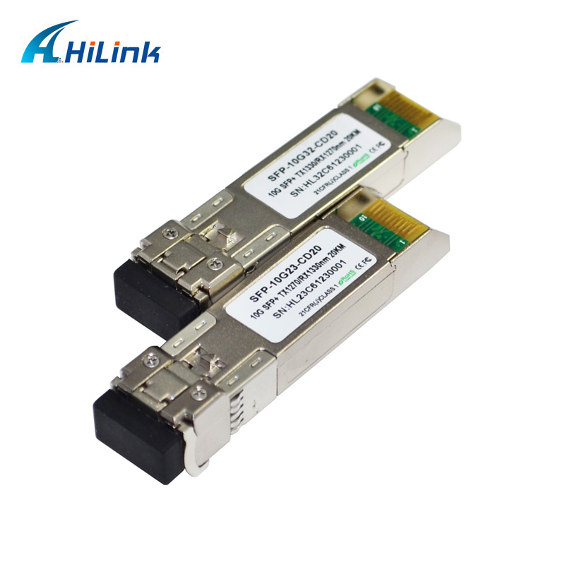 HILINK 20 paires beaucoup 20Km 10G WDM BIDI SFP + 1270nm/1330nm DDM LC connecteur DBIC Module