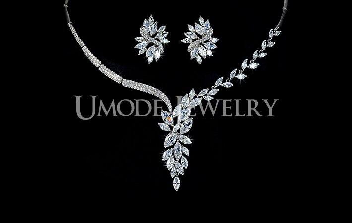 UMODE Luxury Elegant Wedding Jewelry Set Including 1 Pair Flower