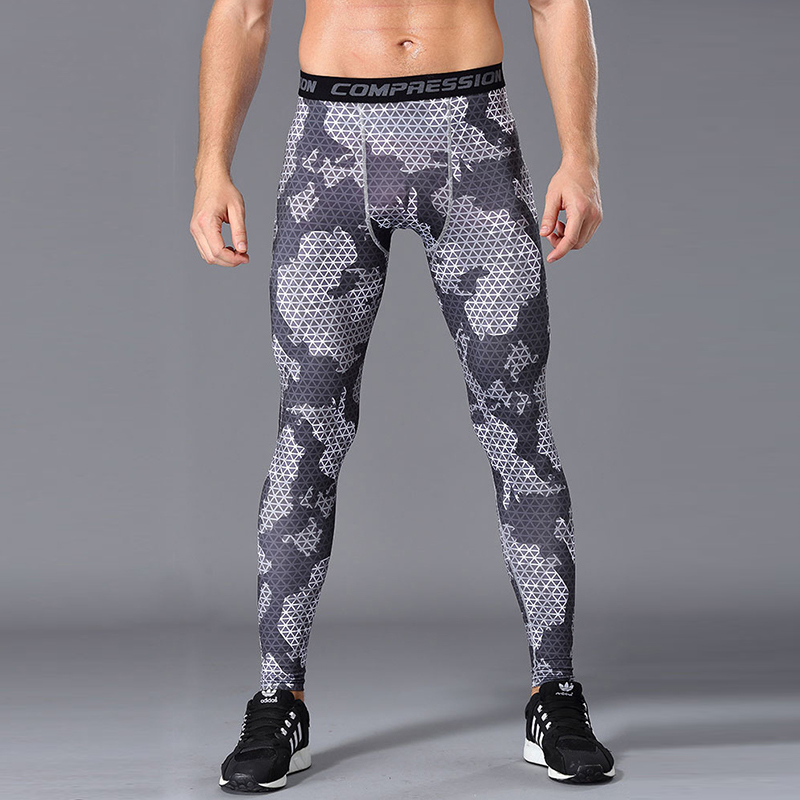 2017 YD brand hot sale printing pant high elasticity fast dry compression polyester mens running pants Sports trousers legging