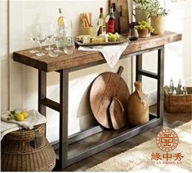 LOFT American Country To Do The Old Vintage Wood Dining Hall Entrance Door Station Side Wall