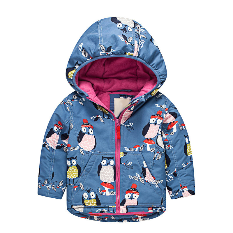 Children's Warm Cotton Thickened Coat Kids Girls Boys Fleece Jackets Girl Hooded Winter Jacekt Waterproof Windproof Coat 2-7T