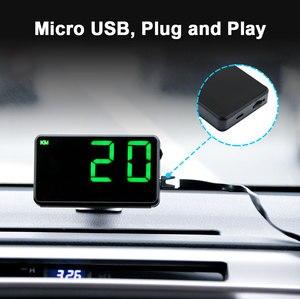 """Image 4 - Vjoy GPS compteur de vitesse 4.5 """"C80 odomètre de vitesse kilométrage HUD affichage alarme de vitesse numérique mi/h KMH affichage daltitude projecteur 3 C60s"""
