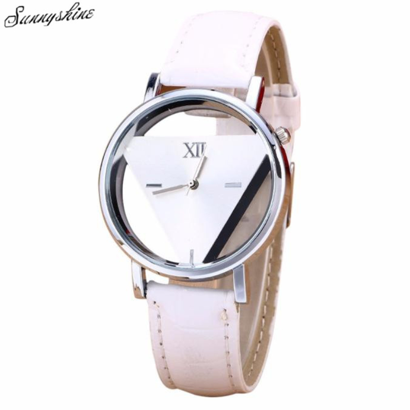 19b5573c666c New Hot Men Women s Watches Unique Hollowed out Triangular Dial Black Clock Fashion  wristwatch wholesaleF3-in Women s Watches from Watches on Aliexpress.com ...