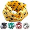 Estrellas Mantón de las Bufandas de Algodón Pañuelo de Los Niños Niños Niño Niña Unisex Invierno Que Hace Punto