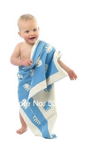 بطانية قطن محبوكة بطبقتين من أجل نوم الطفل والسفر والاستحمام