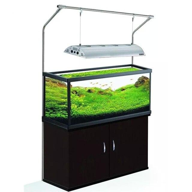 Back Leaning Stainless Steel Fish Tank Lamp Hanger Water Gr C