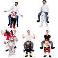 High-profile Mascot Costume Unisex Cosplay Novelty Carry Me Ride On Costume Funny Fancy Dress Halloween Costumes carry me pants