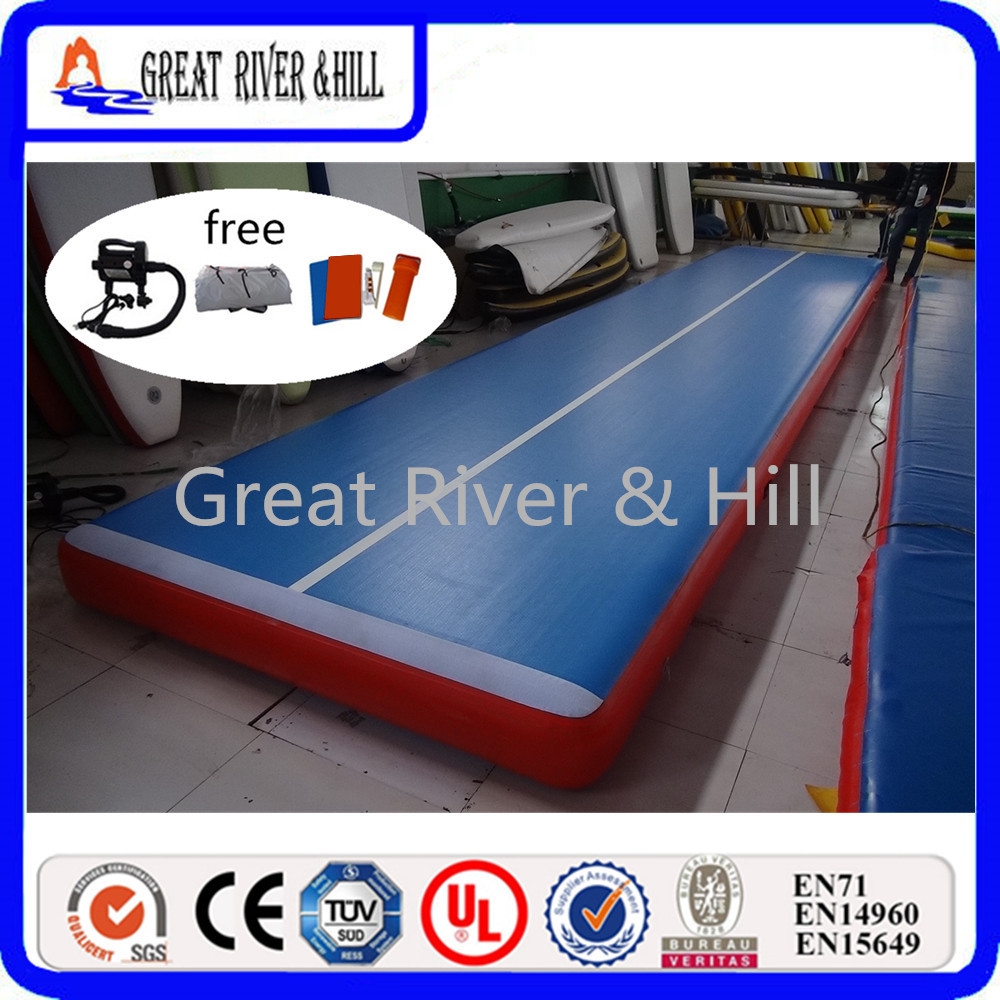Great river & hill training mats air track high quality for gymnastics with fedex shippi ...